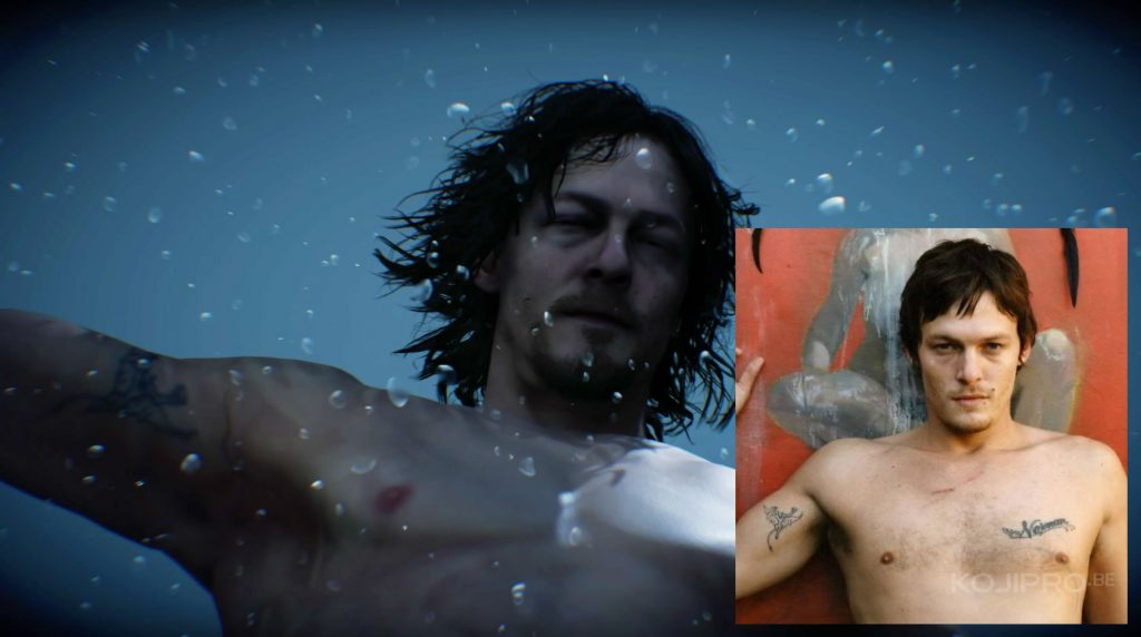 Sam hérite de certains tatouages de Norman Reedus, comme ce petit démon sur le biceps droit.