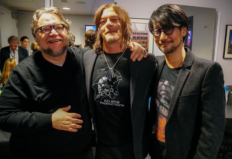 Guilhermo Del Toro with regard to guillermo del toro, norman reedus et hideo kojima, le 7 décembre