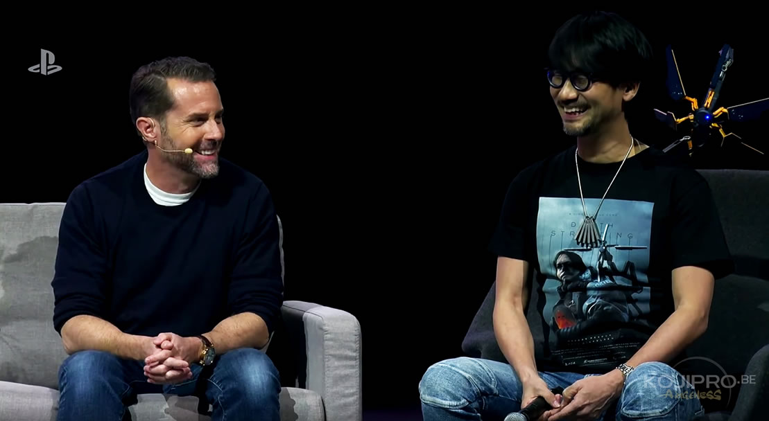 Andrew House et Hideo Kojima lors du PlayStation Experience, le 8 décembre 2017