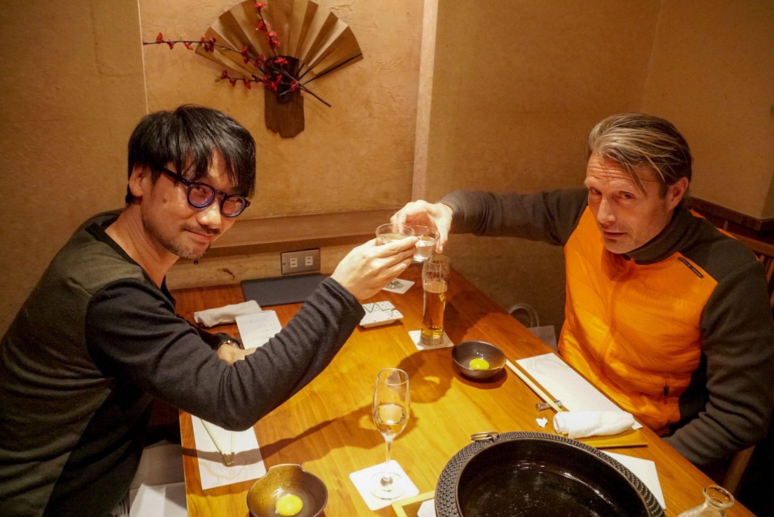 Hideo Kojima et Mads Mikkelsen, le 1er décembre 2017