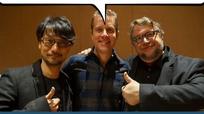 Hideo Kojima, Geoff Keighley et Guillermo del Toro, le 18 février 2016