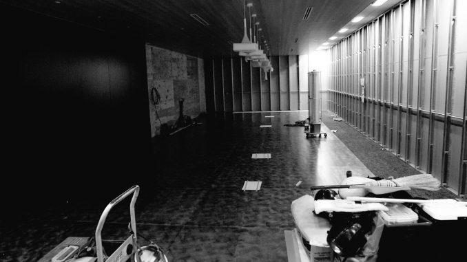 Aménagement du nouveau studio de Kojima Productions à Shinagawa en mai 2016