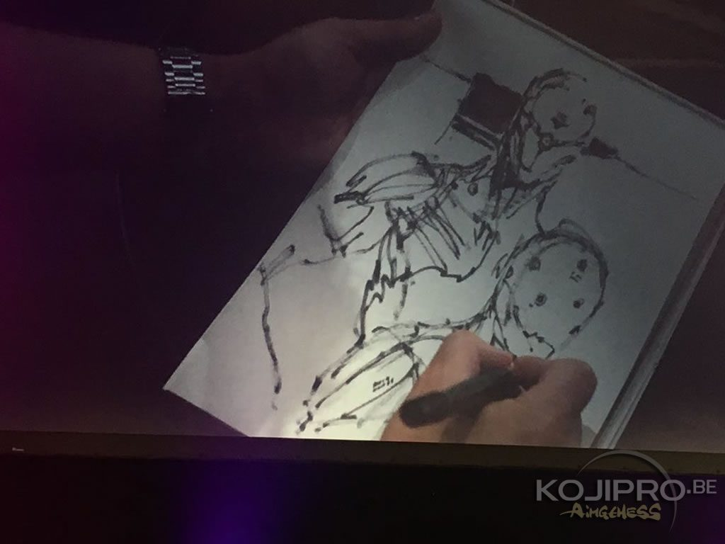 Le Cyborg Ninja dessiné par Yoji Shinkawa au MAGIC 2018, le 24 février 2018