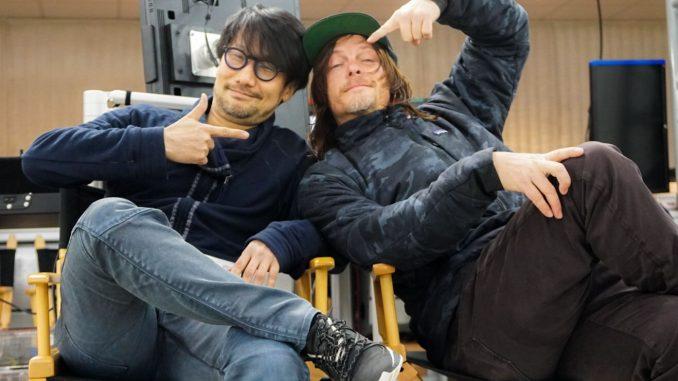 Hideo Kojima et Norman Reedus, séance de performance capture pour Death Stranding, le 19 février 2018