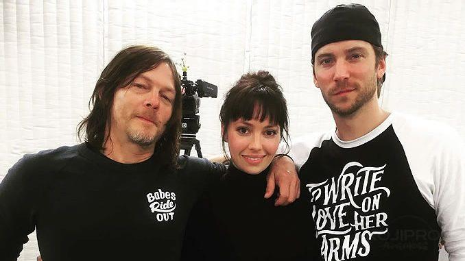 Norman Reedus, Emily O'Brien et Troy Baker, le 21 février 2018