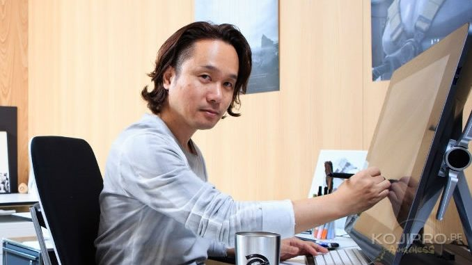 Yoji Shinkawa dans son bureau chez Kojima Productions (2017)