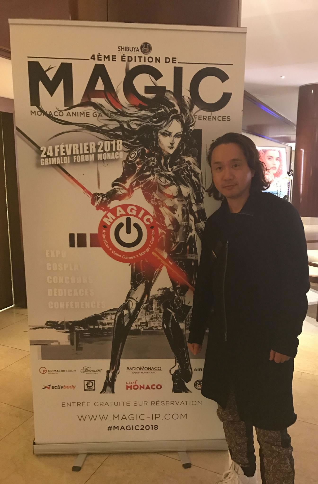 Yoji Shinkawa au Grimaldi Forum Monaco, le 22 février 2018