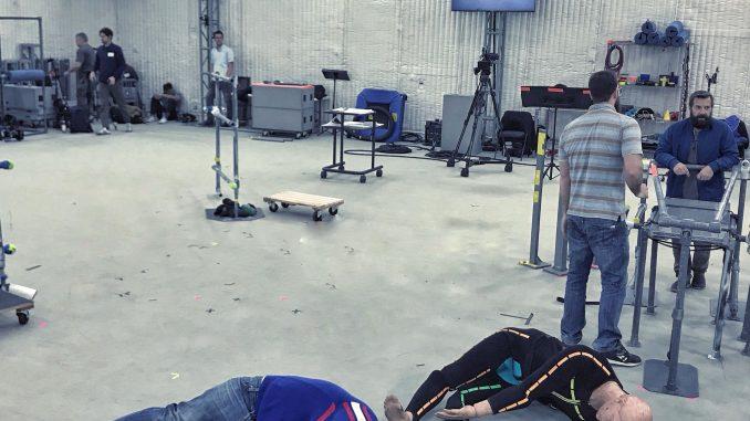Jordan Vogt-Roberts, séance de performance capture pour Death Stranding, le 13 avril 2018