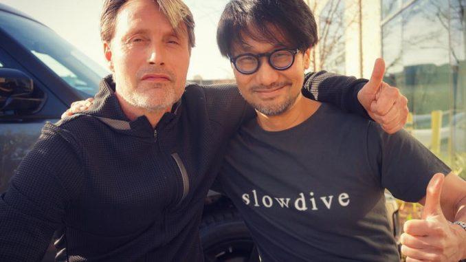 Mads Mikkelsen et Hideo Kojima, le 10 avril 2018