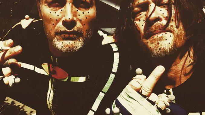Mads Mikkelsen et Norman Reedus, séance de performance capture pour Death Stranding, le 14 avril 2018