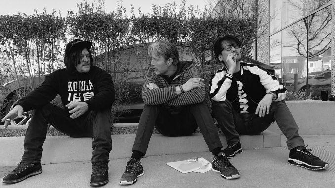 Norman Reedus, Mads Mikkelsen et Hideo Kojima, séance de performance capture pour Death Stranding, le 13 avril 2018
