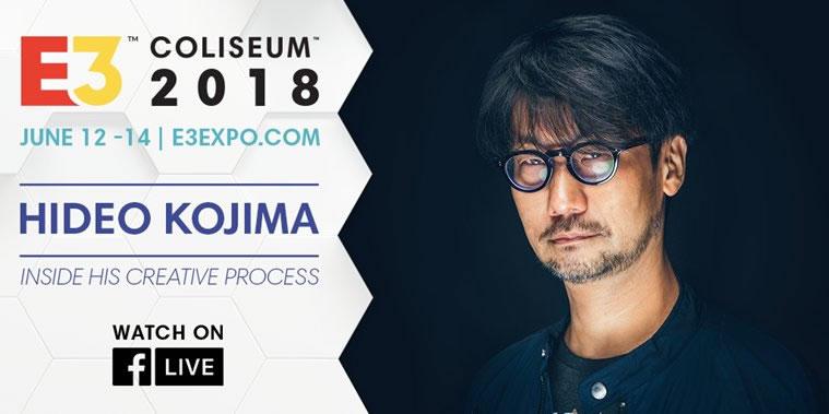 Hideo Kojima fera une apparition à l'E3 Coliseum pour évoquer son processus de création