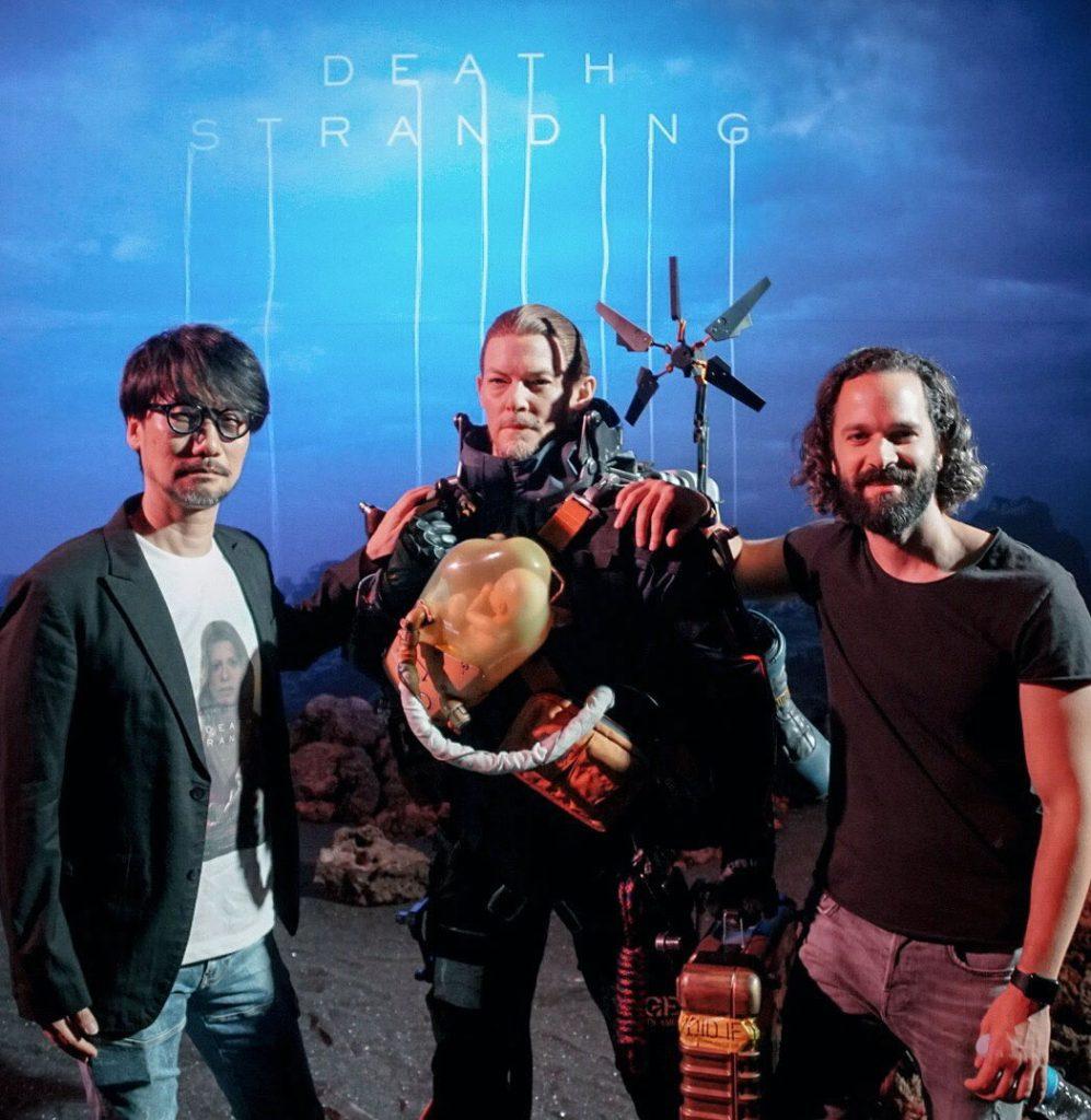 Hideo Kojima, la statue de Sam et Neil Druckmann, le 11 juin 2018