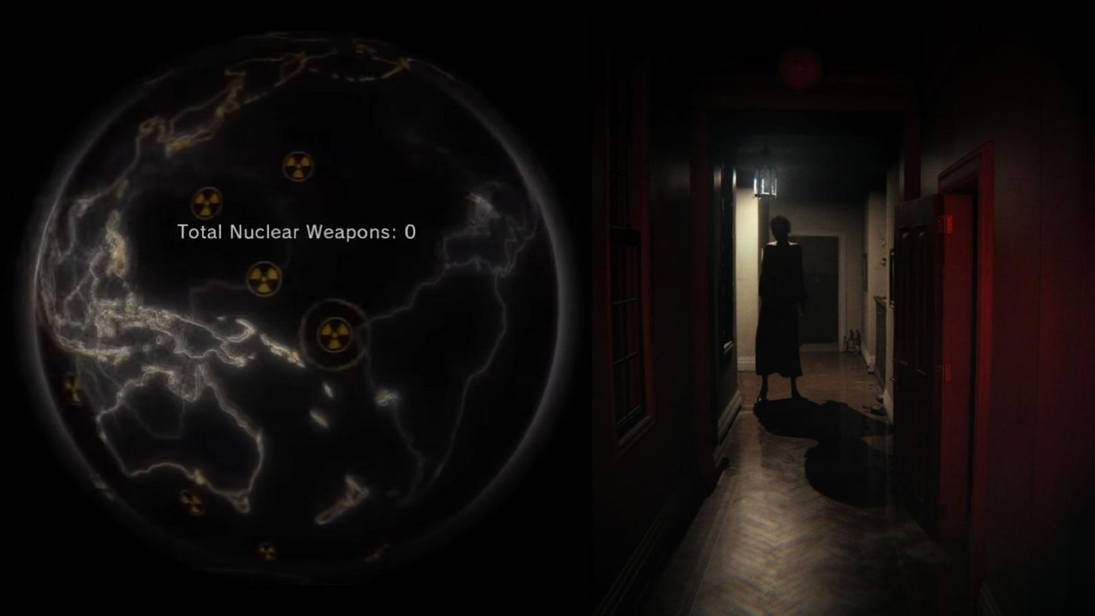 Le désarmement nucléaire de Metal Gear Solid V : The Phantom Pain (2015), et le couloir hanté par Lisa de PT (2014)