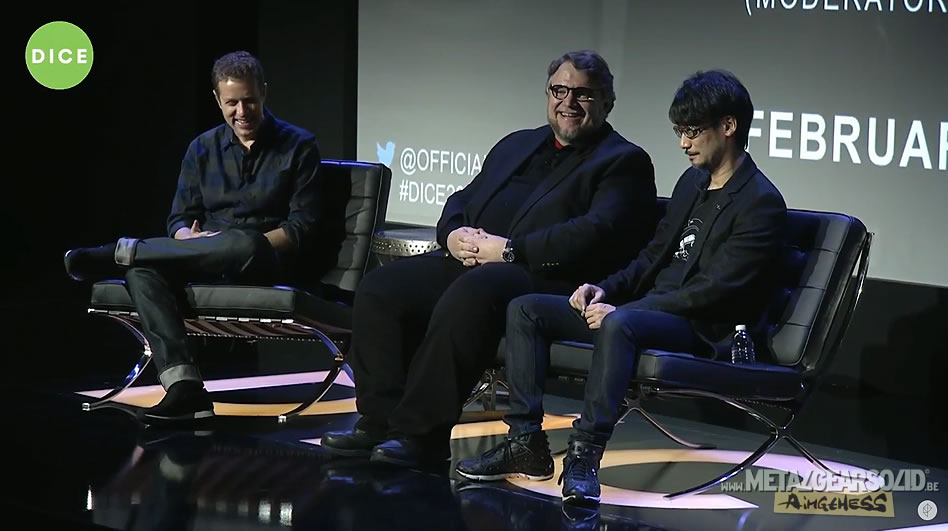 Geoff Keighley, Guillermo del Toro et Hideo Kojima (D.I.C.E. 2016)