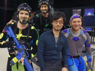 Hideo Kojima en séance de Motion Capture chez Sony, le 19 janvier 2016