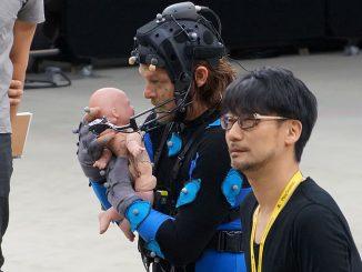 Norman Reedus et Hideo Kojima en performance capture pour Death Stranding, en mars 2016