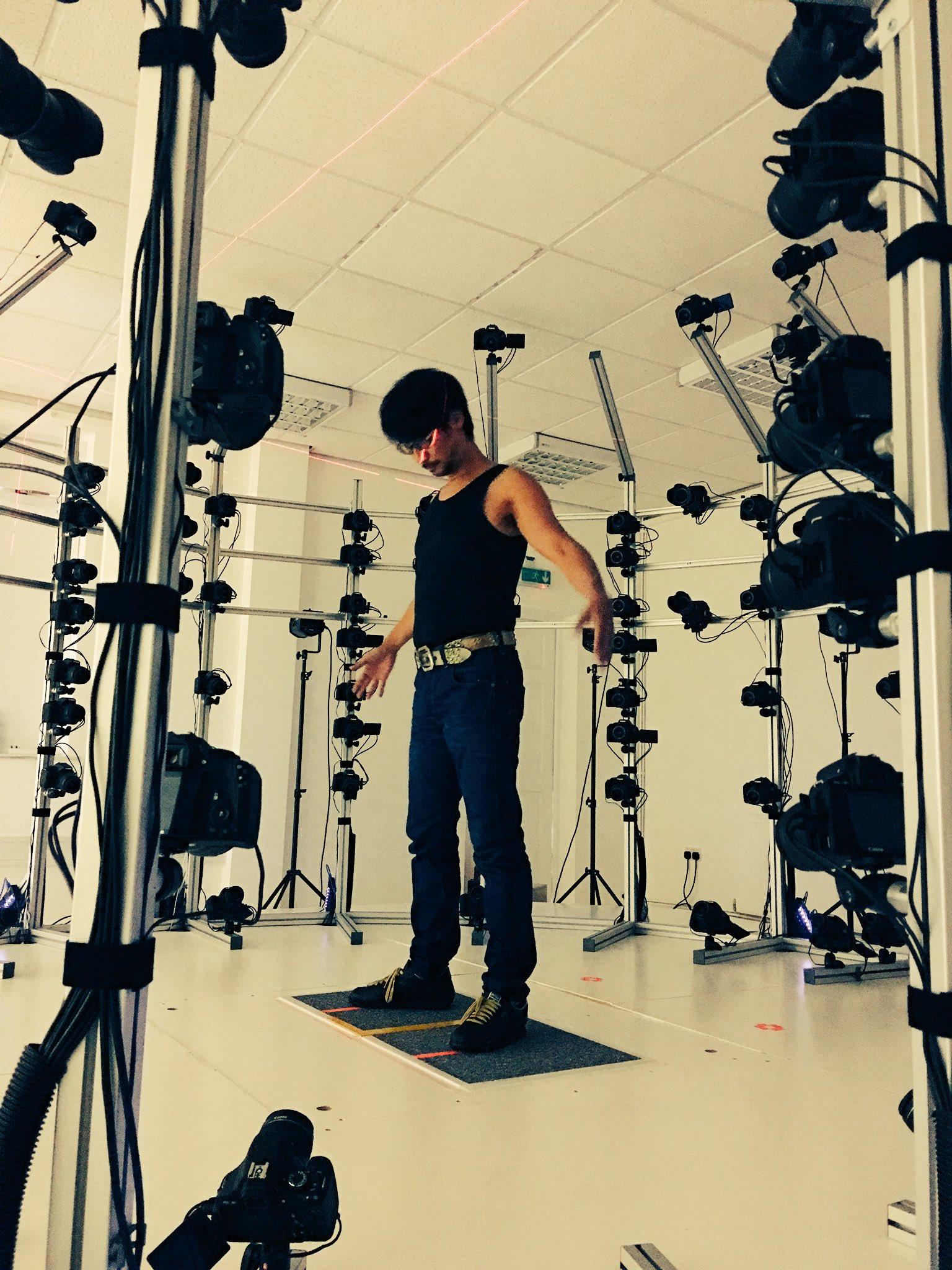 Hideo Kojima en studio 3D Scanning, le 23 août 2016