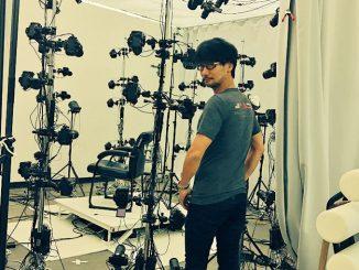 Hideo Kojima en studio 3D scaning, le 10 septembre 2016