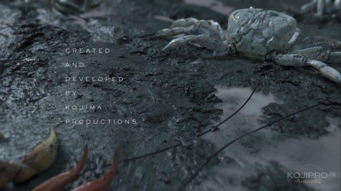 Les crabes sont tous reliés par des cordons noirs.
