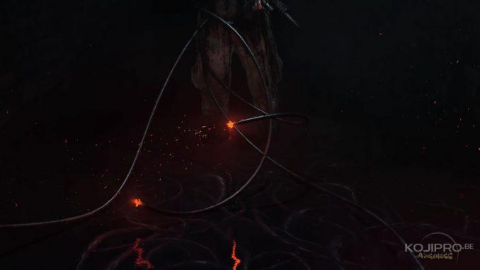 Le monde de Death Stranding semble être envahi de cordons noirs, même sous l'eau