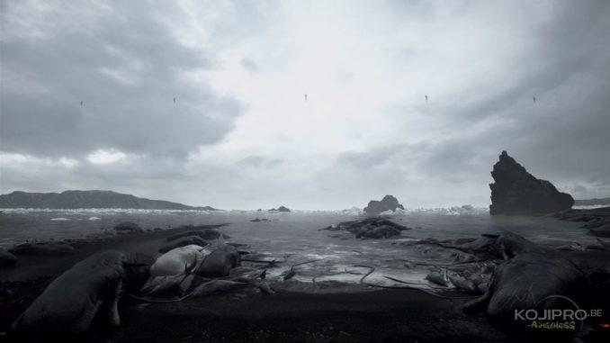 Lave, océan et icebergs se côtoient dans ce paysage
