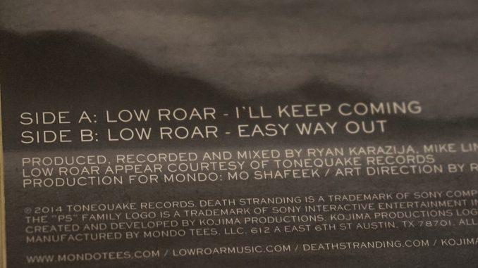 Le vinyle de Death Stranding / Low Roar