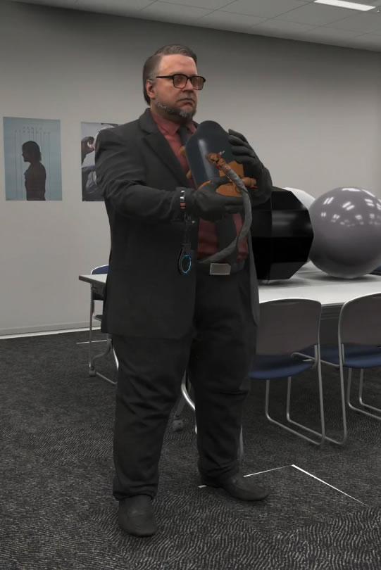 Le modèle 3D de Guillermo del Toro dans la « Glass Room » de Kojima Productions
