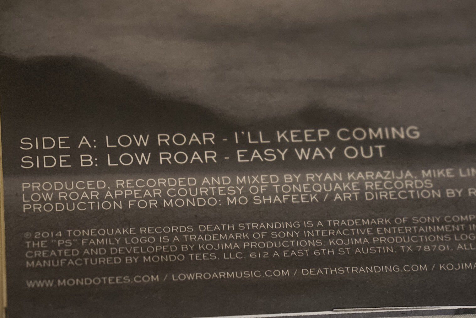 Vinyl limté de Death Stranding – Low Roar