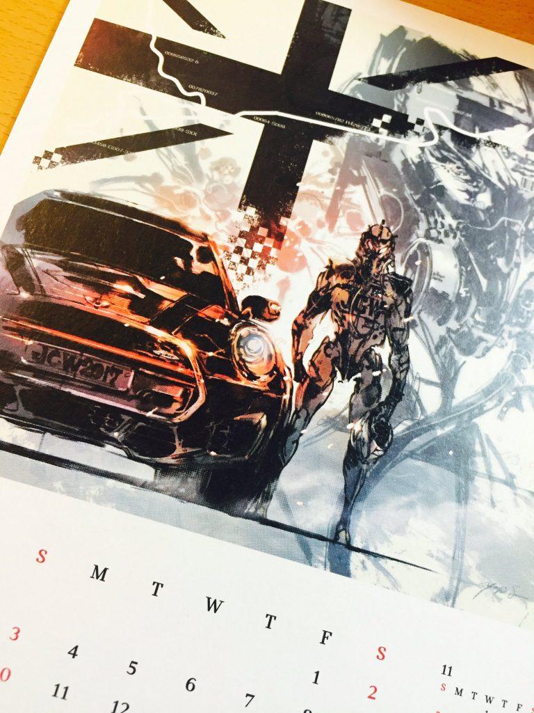 Un artwork inédit de Yoji Shinkawa pour un calendrier Mini