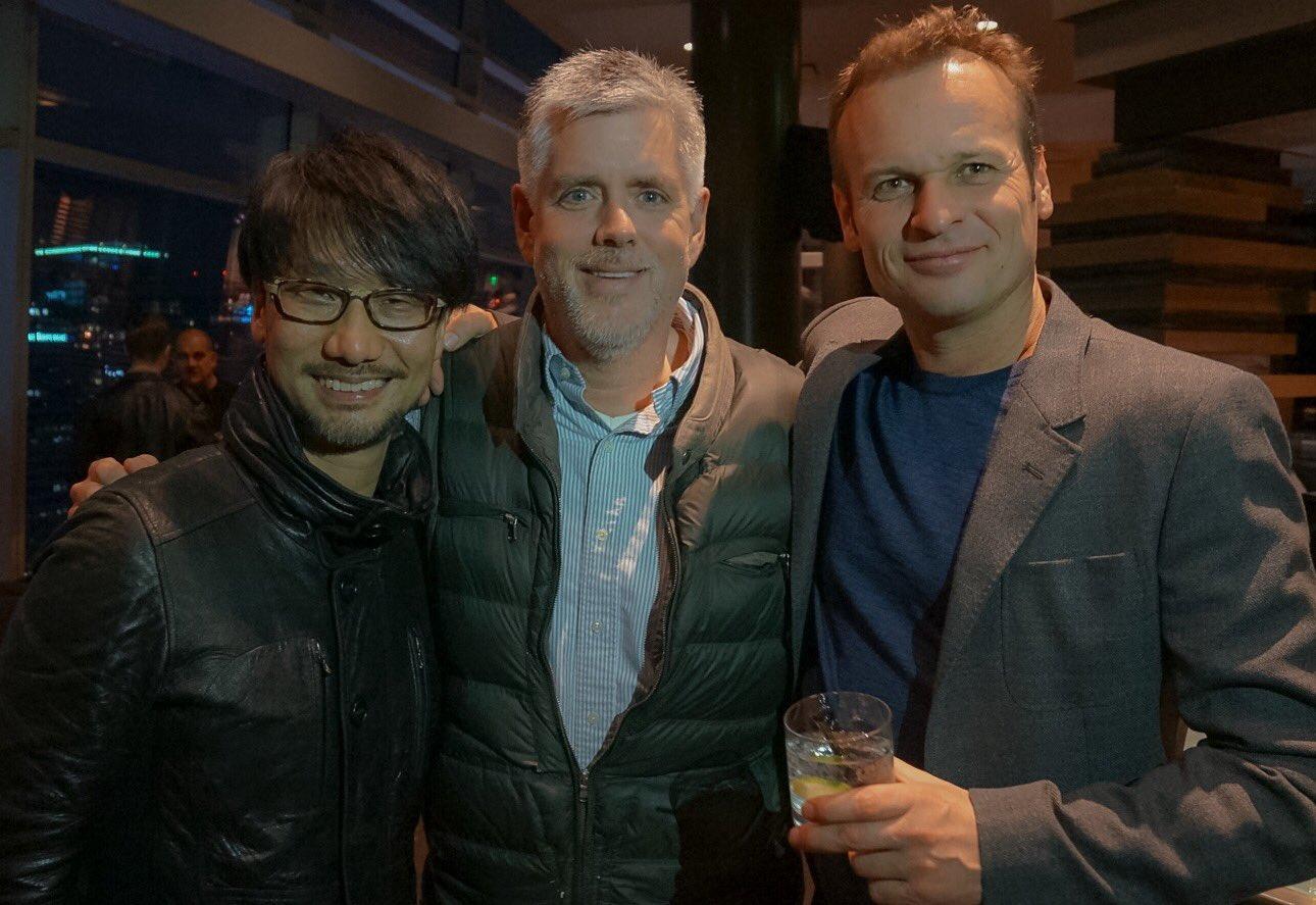 Hideo Kojima, Kyle Cooper et Hermen Hulst, le 1er décembre 2016
