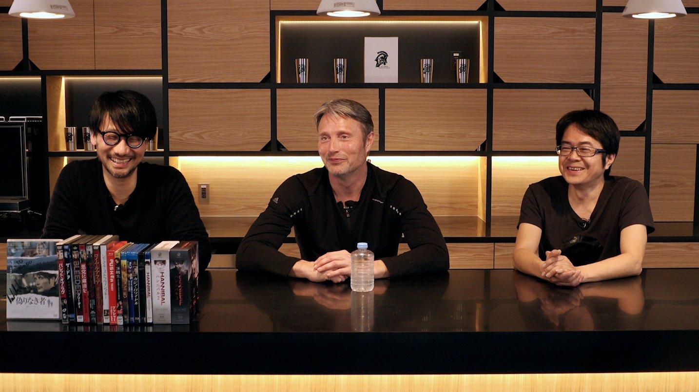 Hideo Kojima, Mads Mikkelsen et Kenji Yano, le 25 janvier 2017