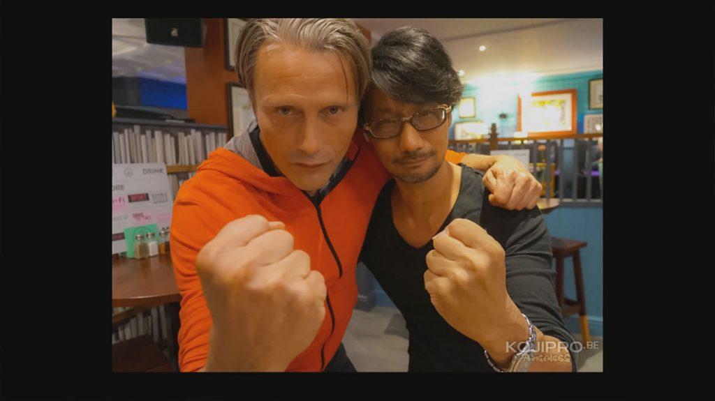 Mads Mikkelsen et Hideo Kojima au bar, en Angleterre – Août 2016