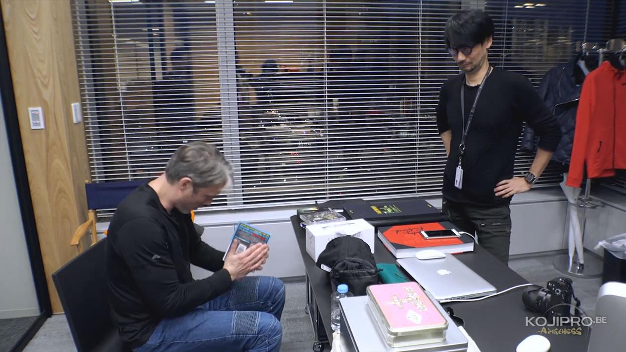 Mads Mikkelsen et Hideo Kojima, dans le bureau de ce dernier – Janvier 2017
