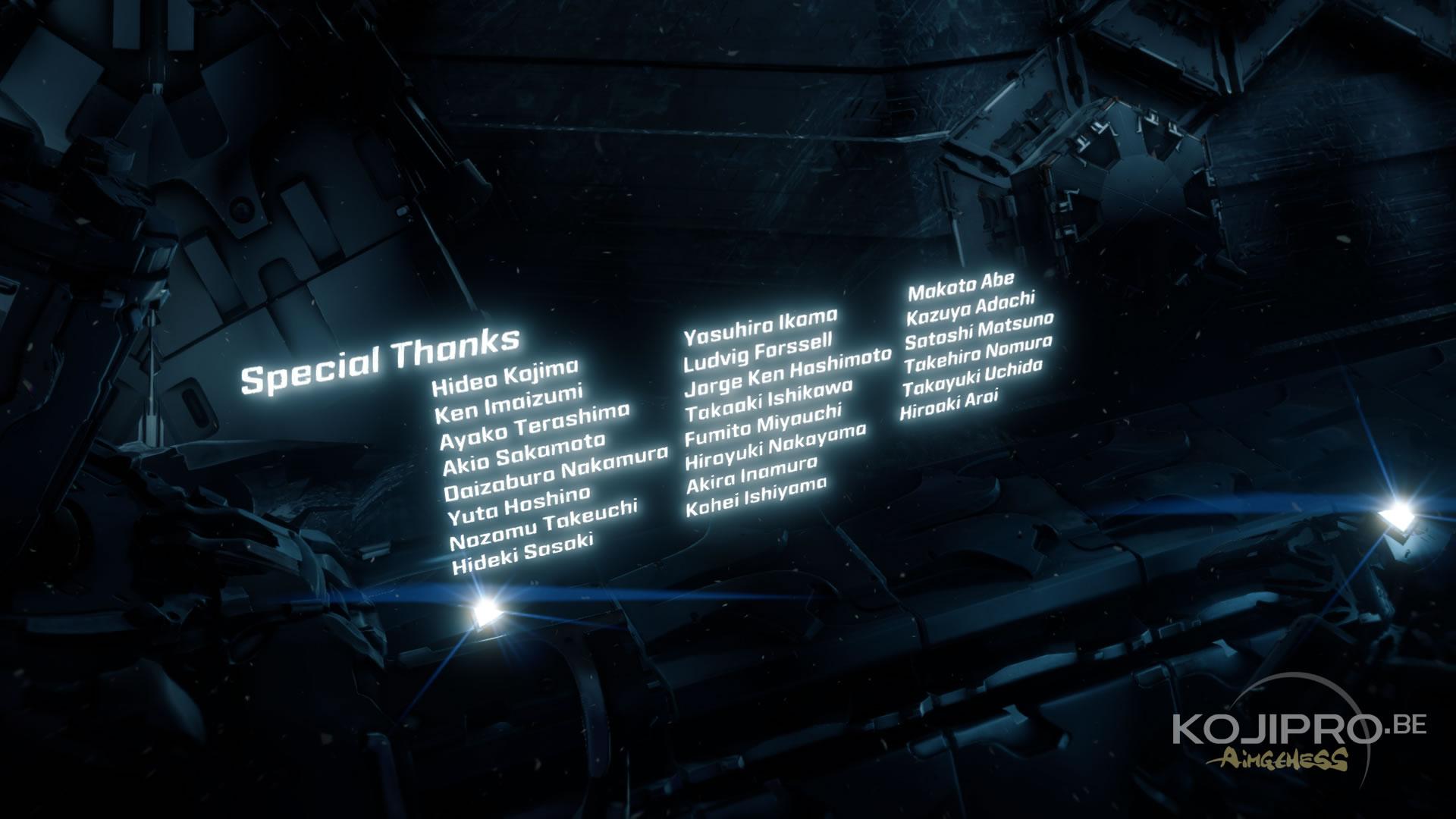Guerrilla Games remercie des membres de Kojima Productions dans le générique de Horizon Zero Dawn