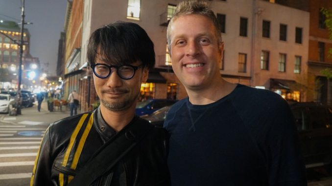 Hideo Kojima et Geoff Keighley à New-York, le 28 avril 2017