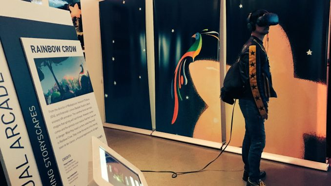 Hideo Kojima au Virtual Arcade du Tribeca Games Festival, le 28 avril 2017