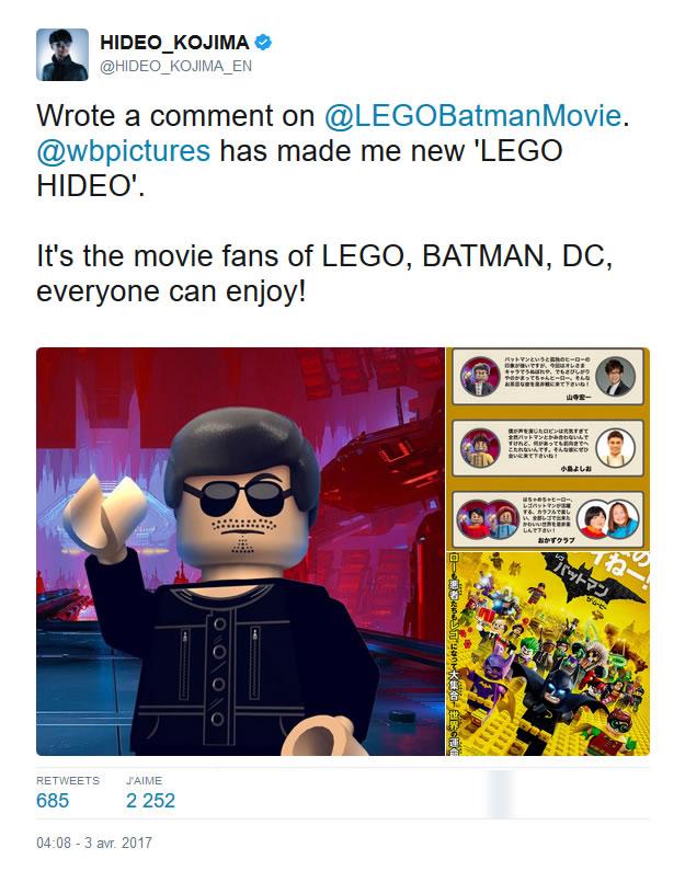 Hideo Kojima à nouveau immortalisé en personnage Lego