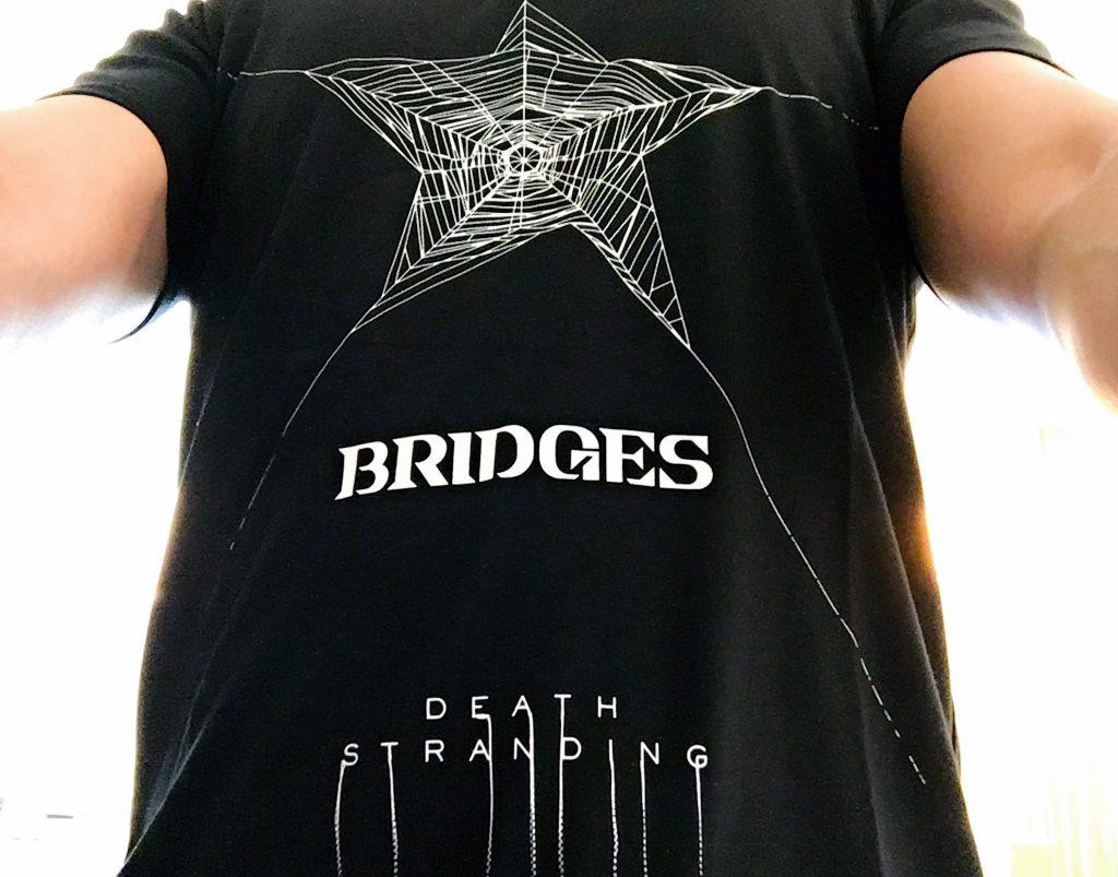 Le t-shirt Death Stranding « Bridges » de Hideo Kojima, le 12 juin 2017