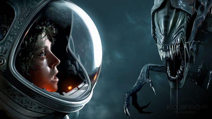 Ellen Ripley (Sigourney Weaver) dans « Alien » et la Reine dans « Aliens » par Brian Taylor