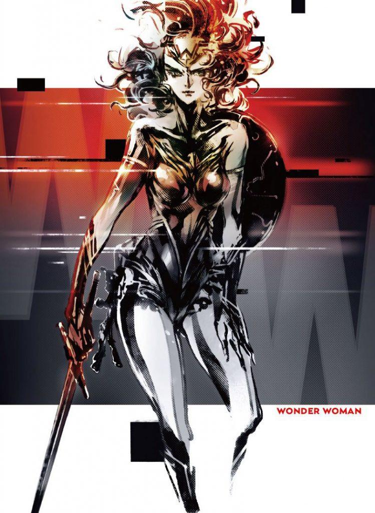 Affiche de « Wonder Woman Anthology » illustrée par Yoji Shinkawa