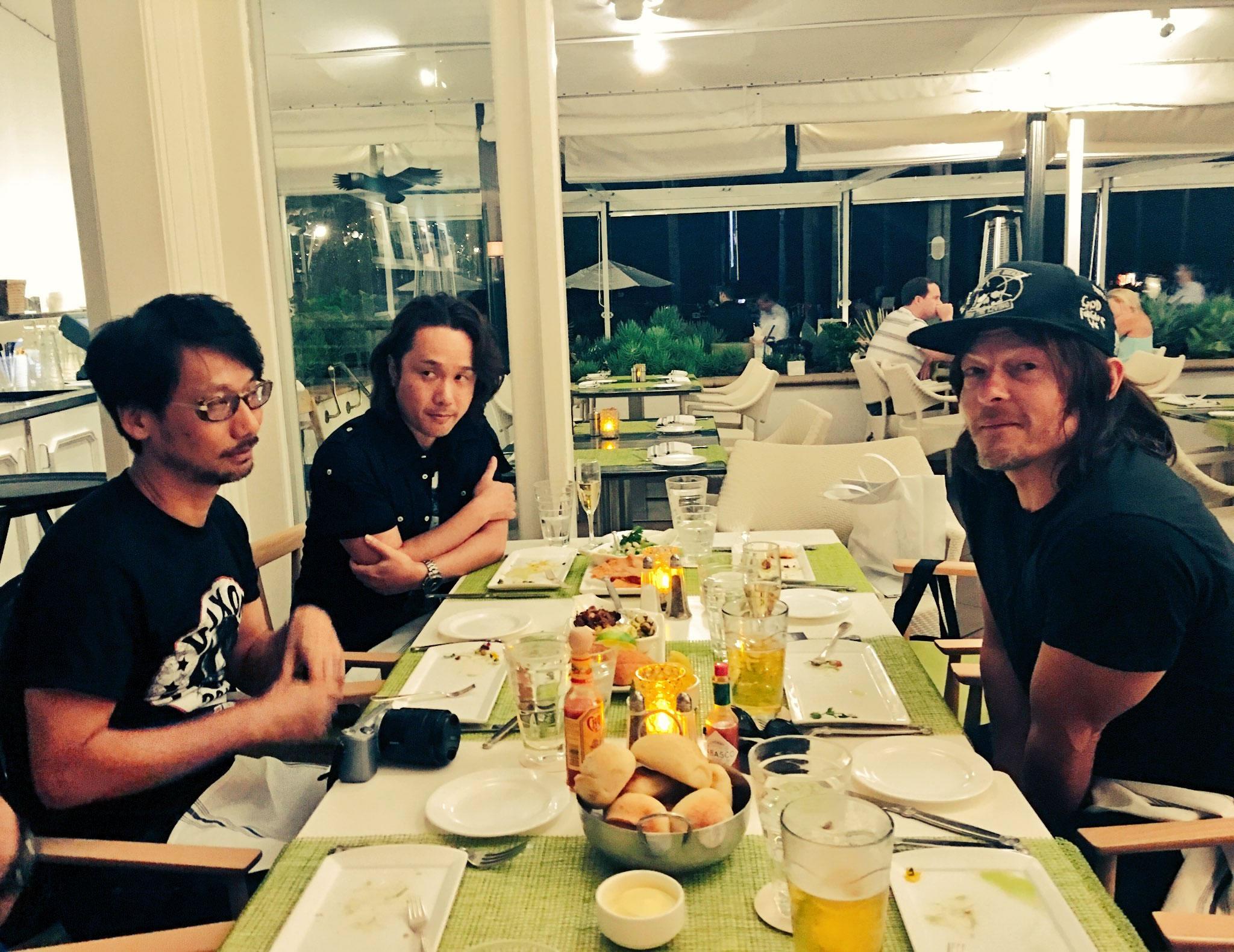 Hideo Kojima, Yoji Shinkawa et Norman Reedus, le 22 juillet 2016