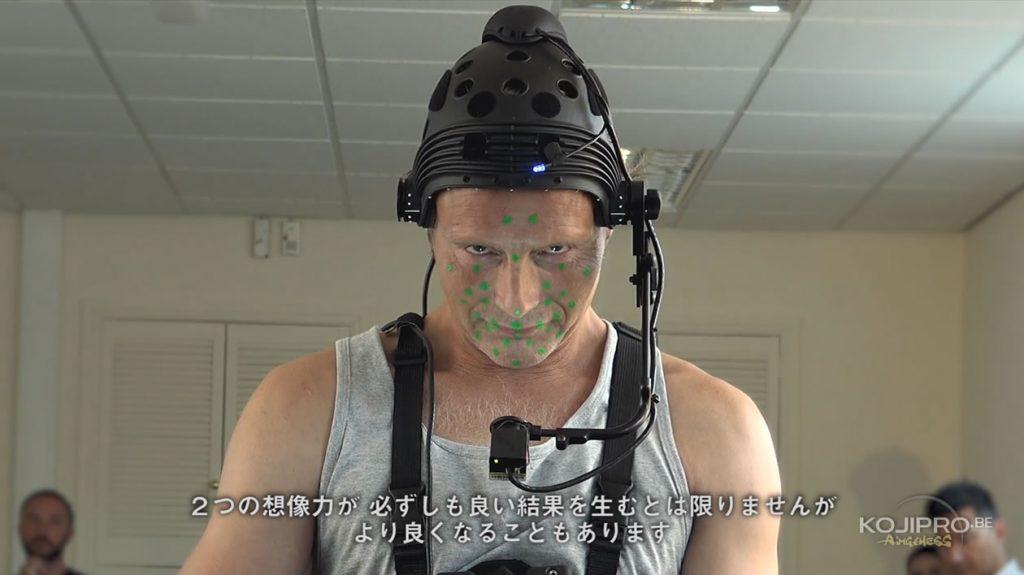 Mads Mikkelsen en séance de motion capture pour Death Stranding, le 21 août 2016