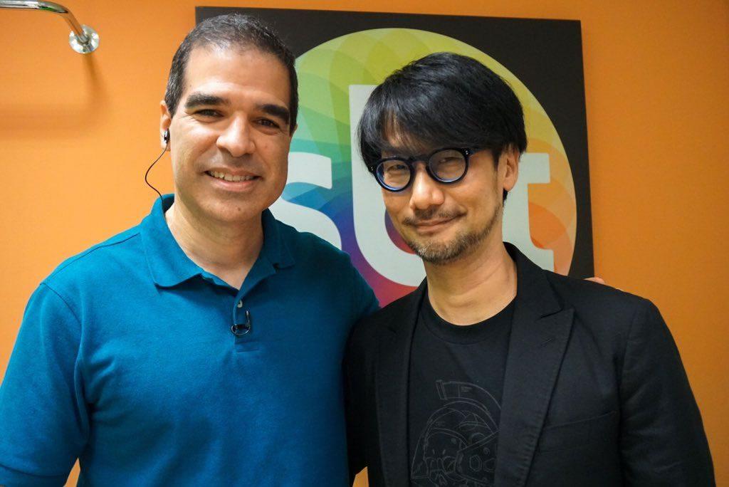 Ed Boon et Hideo Kojima dans les studios de « SBT » (Sistema Brasileiro de Televisão), le 11 octobre 2017