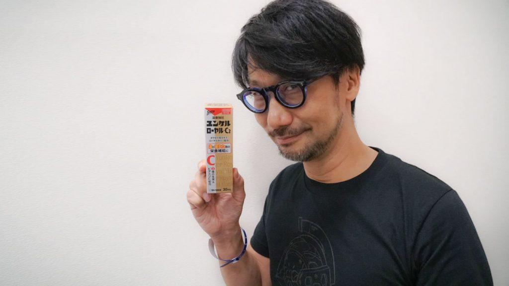 Hideo Kojima et ses vitamines au Brasil Game Show, le 11 octobre 2017