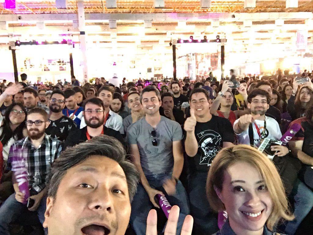Ken Imaizumi et Ayako Terashima au Brasil Game Show, le 12 octobre 2017