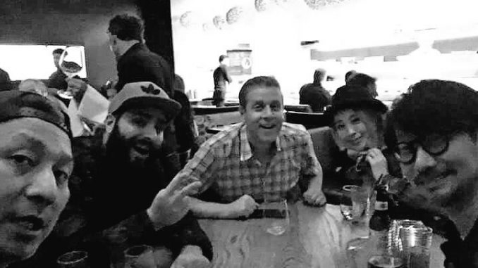Ken Imaizumi,  Jordan Vogt-Roberts, Geoff Keighley, Ayako Terashima  et Hideo Kojima, le 1er octobre 2017