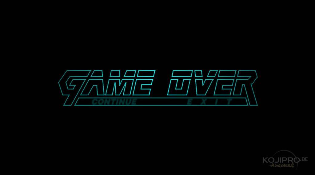 Le « game over » de Metal Gear Solid (1998)