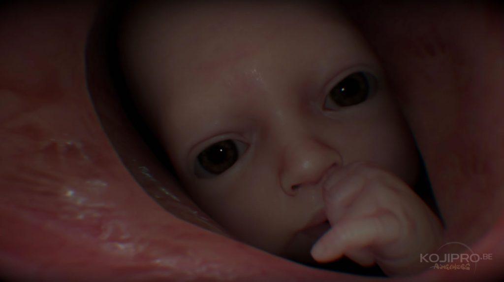 Le bébé dans les entrailles de Sam.