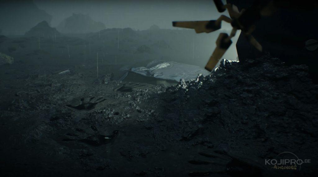 Quand la bête laisse une trace sur la portière sur le sol, cette dernière ne s'enfonce pas dans la boue.